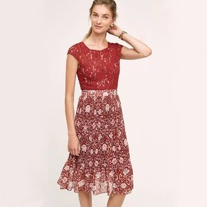 Anthropologie Arcadia midi dress size 2